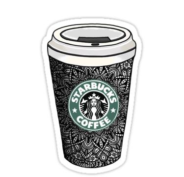 Starbucks Cup Mandala Stickers By Nicoleharvey Redbubble Starbucks Cups Starbucks Mandala