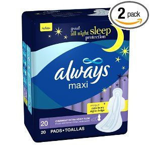 Postpartum maxi pads - or overnight - or for extra coverage
