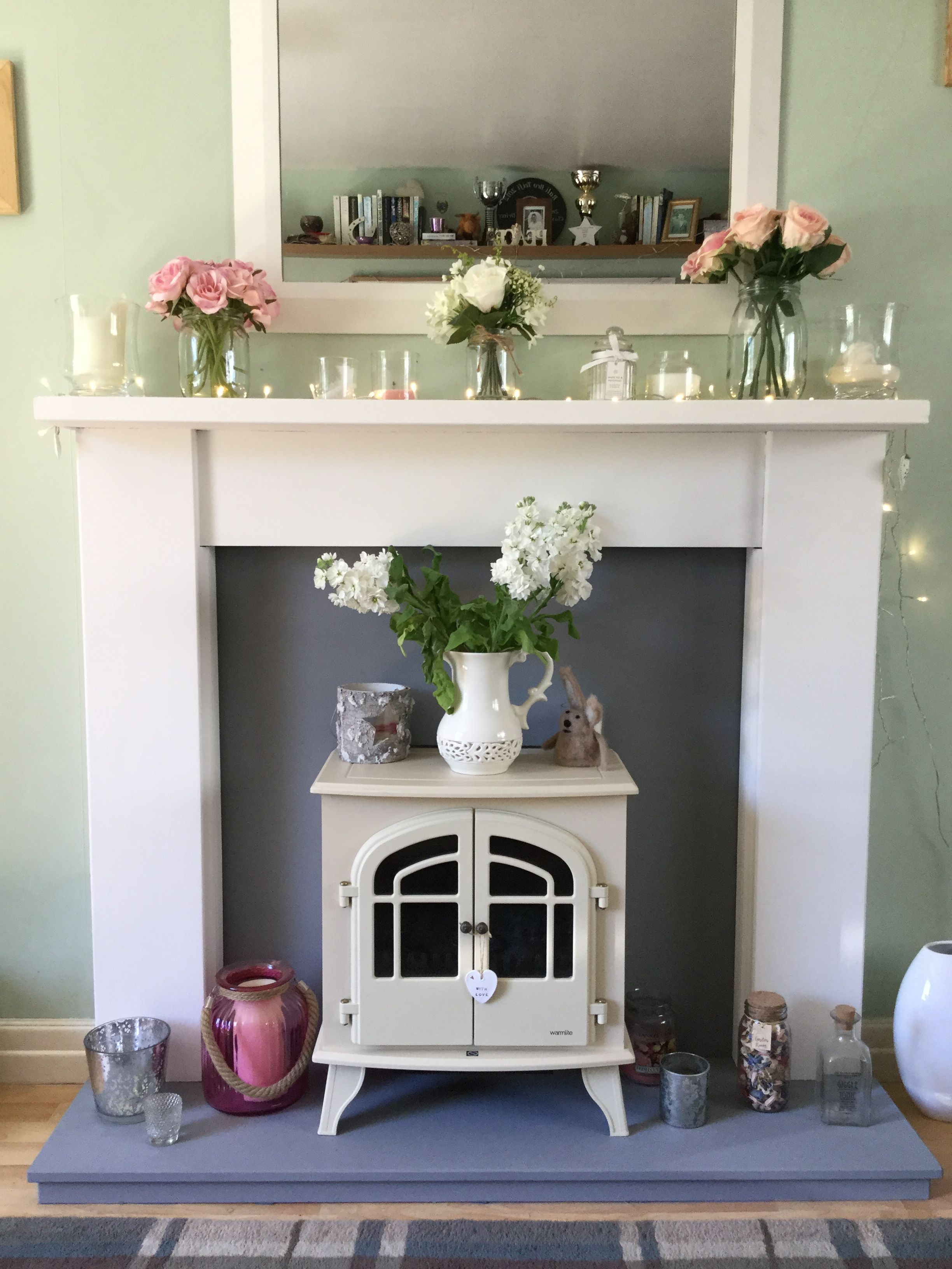 how to paint stone fireplace surround
