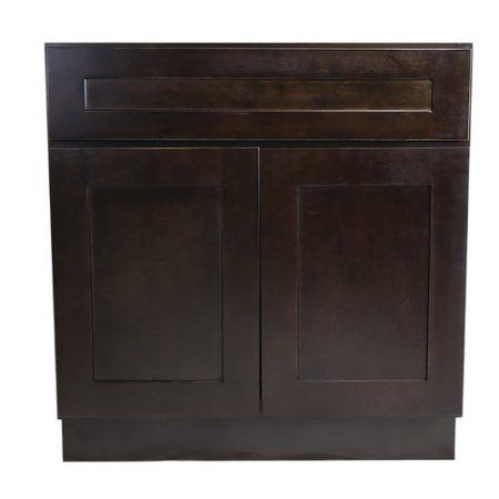 Design House 562074 Brookings 33 Inch Sink Base Cabinet Espresso Shaker Brown Cabinets And Sinks