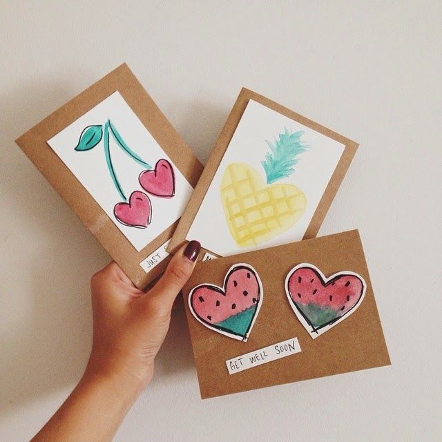 Crafty with a cause fruit themed greeting cards for the for Crafts to donate to charity