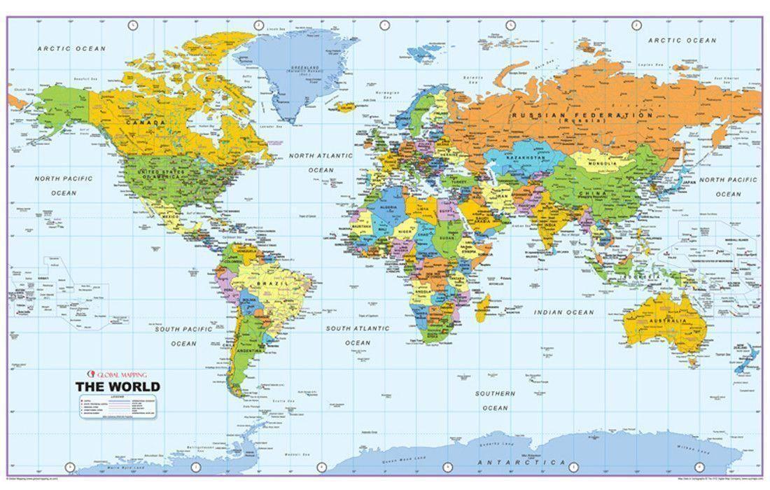 World Map Wallpapers Wallpaper Cave World Map Wallpaper World Political Map Detailed World Map World map wallpaper hd 1920x1080