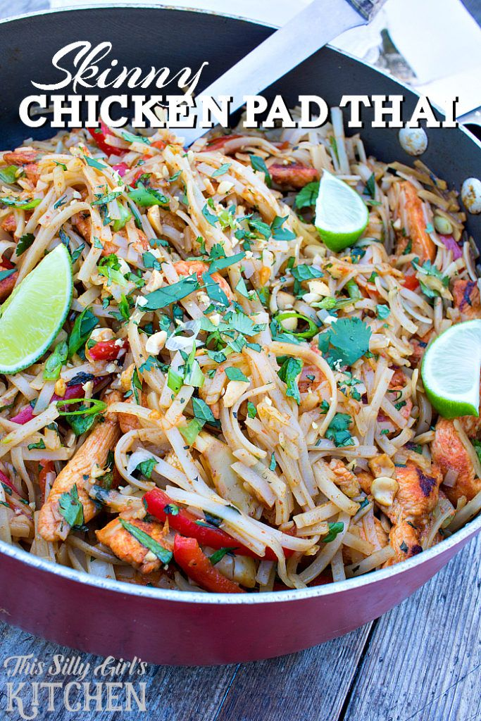 Skinny chicken pad thai a favorite dish made lighter with chicken thai food recipes skinny chicken pad thai a favorite dish made lighter with chicken veggies peanuts forumfinder Images