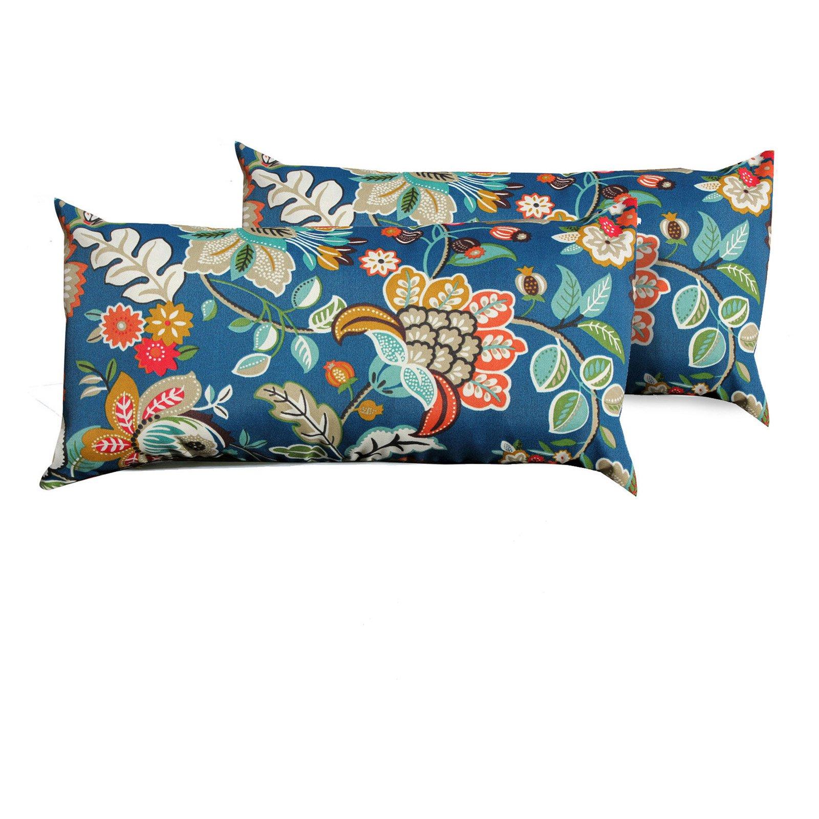 Tk Classics Wild Flower Outdoor Throw Pillows Set Of 2 Outdoor