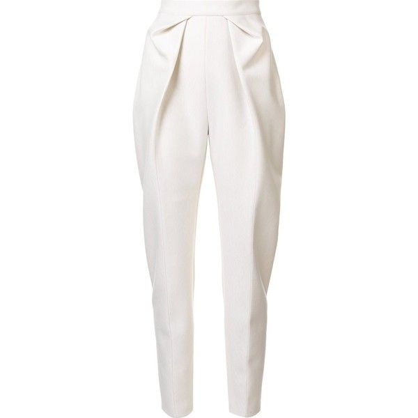 e7e87c43ee Take in front of pants. Delpozo pleated trousers ($594) found on ...