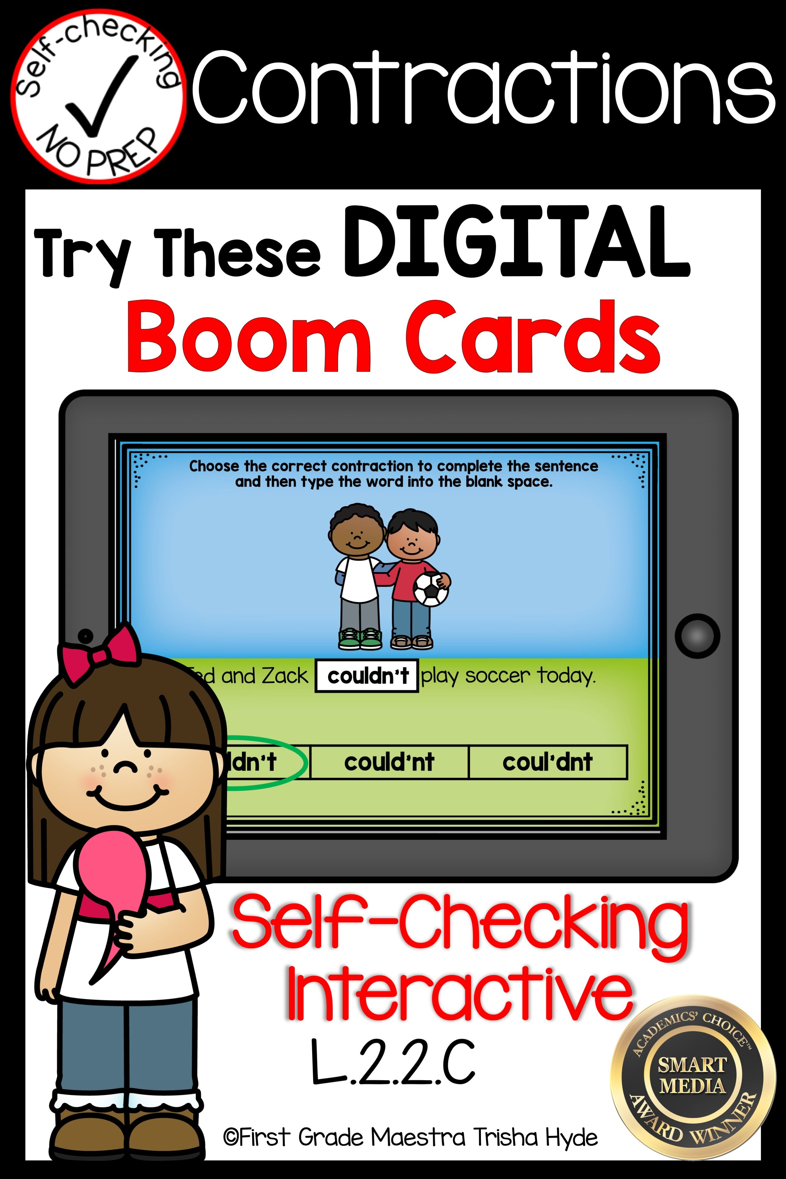 Boom Cards Contractions With Images