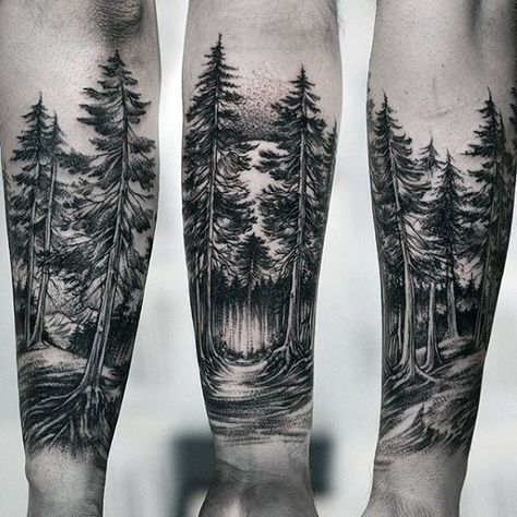 Photo of 100 Forest Tattoo Designs For Men – Masculine Tree Ink Ideas Tattoo