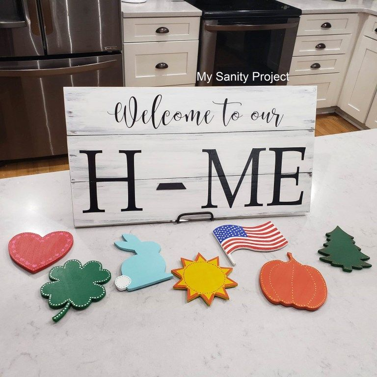 Interchangeable HOME Signs -   19 diy projects Creative cool ideas