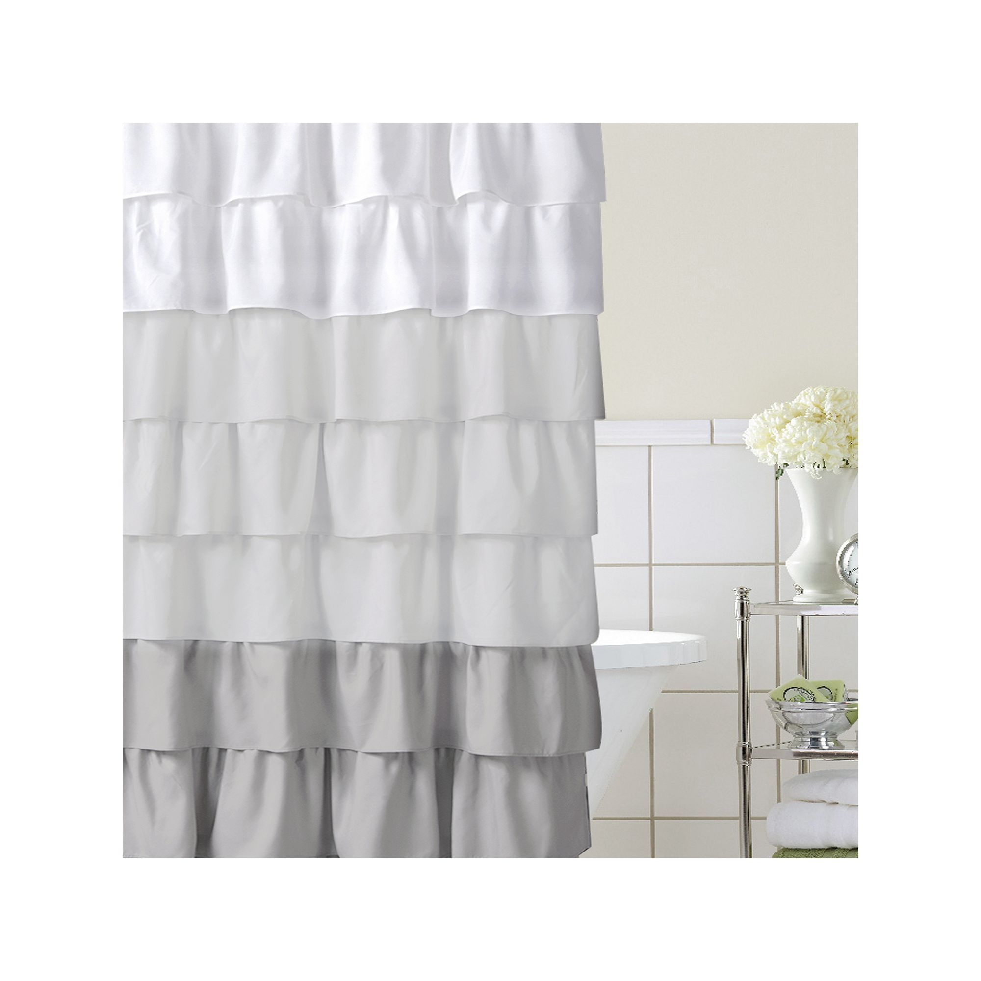 Home Classics Ruffle Ombre Fabric Shower Curtain In 2019 Fabric