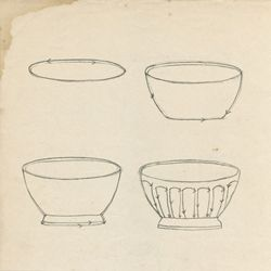 How to draw a latte bowl, from Doodling in French by Anna Corba