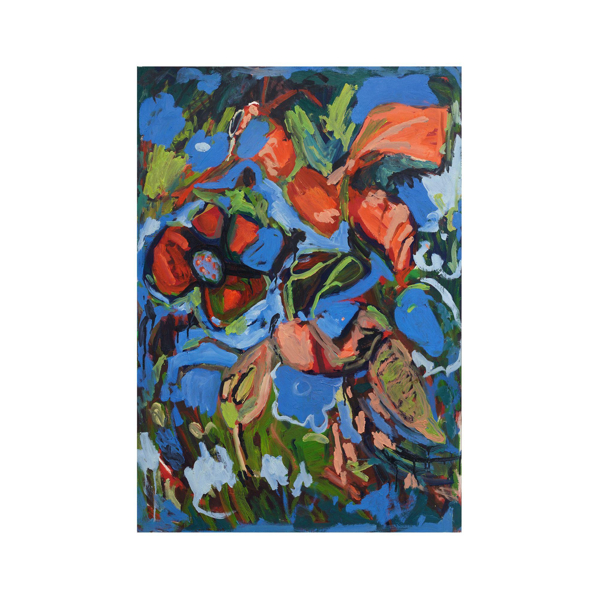 "Adrianne Rubenstein, Honeybees in Corn Flowers   DIMENSIONS 28"" x 19.5"" MEDIUM archival pigment print"