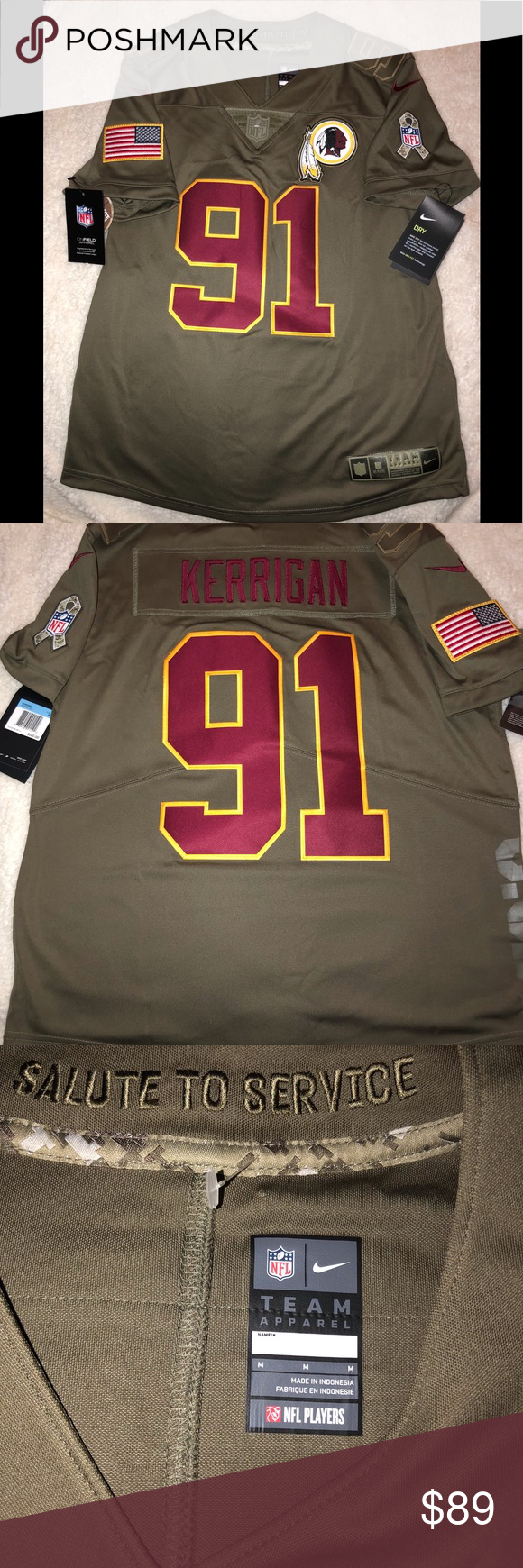new styles 10469 426f3 Nike NFL REDSKINS AUTHENTIC IN GAME JERSEY Pro Bowl player ...