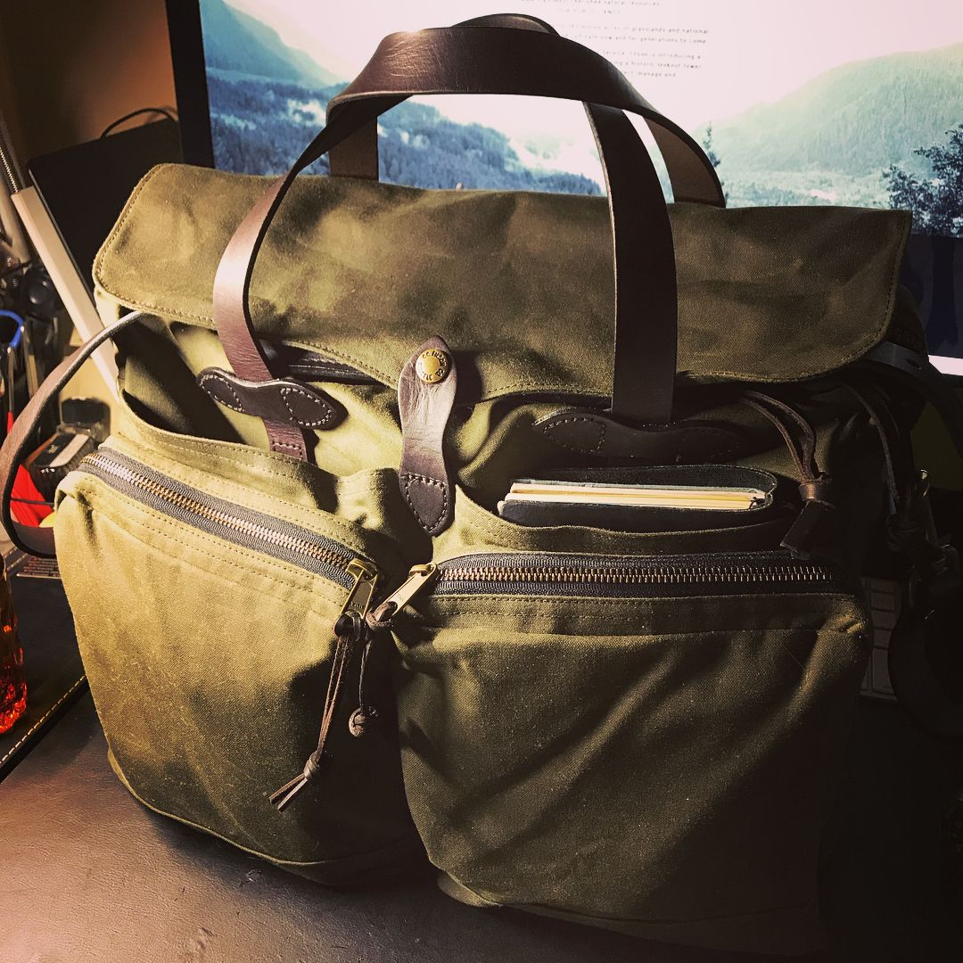 Travelogy Luggage Dark Grey Mens Military Canvas Leather Satchel School 14 Laptop Shoulder Messenger Bag