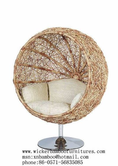 Beau Rattan Bird Nest Chair Image