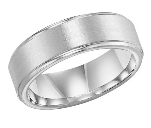 Jewelry & Watches Objective Titanium 8mm Yellow Plated Ridged Edge Brushed Wedding Ring Band Size 8.50 Pretty And Colorful Bridal & Wedding Party Jewelry