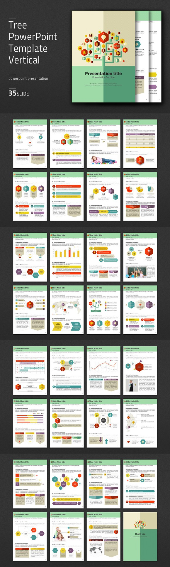 Tree powerpoint template vertical powerpoint templates 4100 tree powerpoint template vertical powerpoint templates 4100 toneelgroepblik Image collections