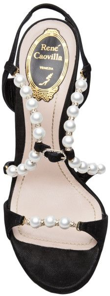 5dca48fa5 Rene Caovilla Pearl Sandal in Black (grey)