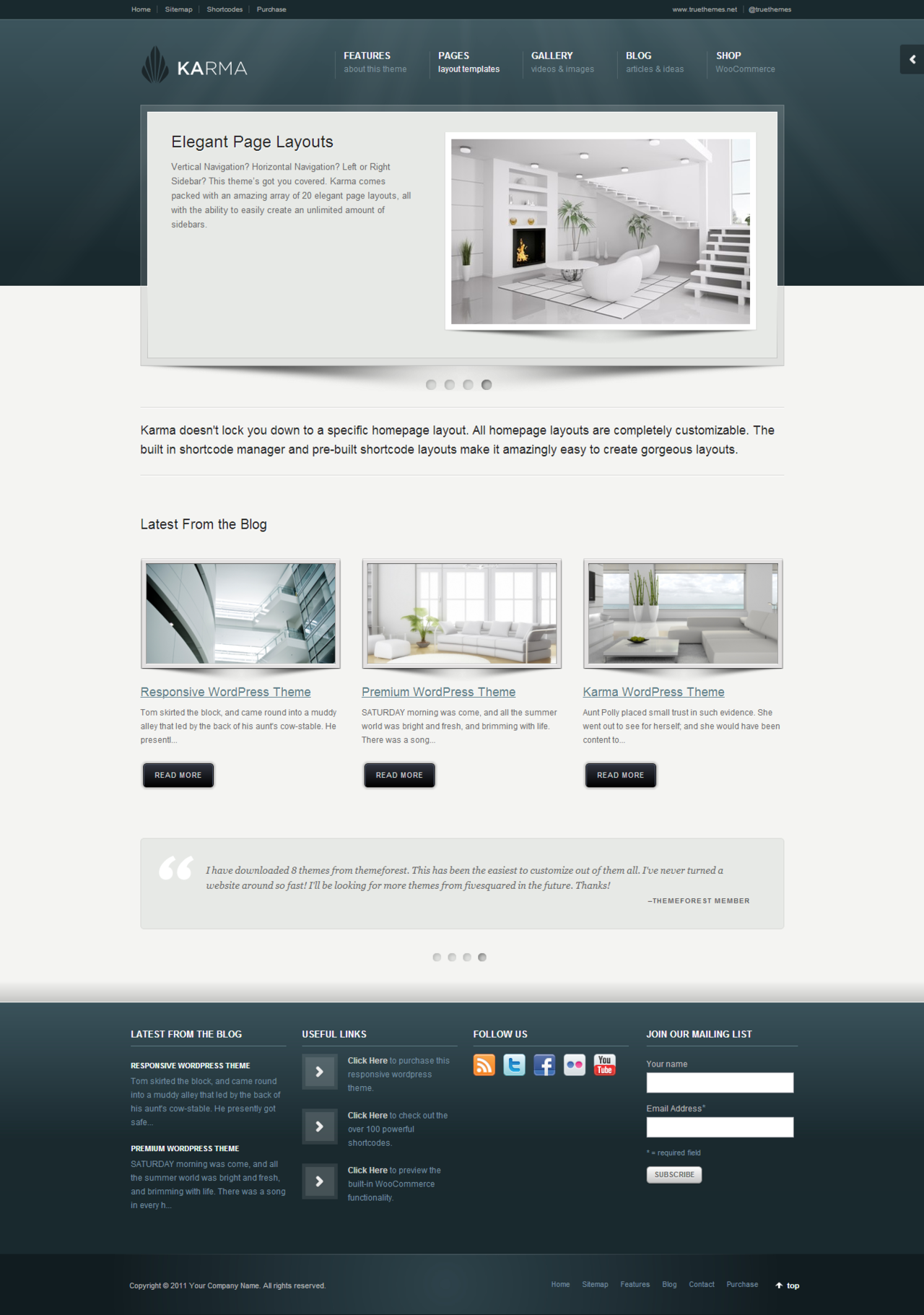 Karma - Clean and Modern Wordpress Theme http://themeforest.net/item ...