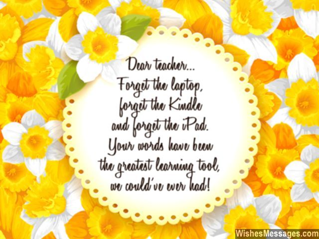 Farewell messages for teachers goodbye quotes for teachers and sweet message for teachers you are the best greeting card m4hsunfo