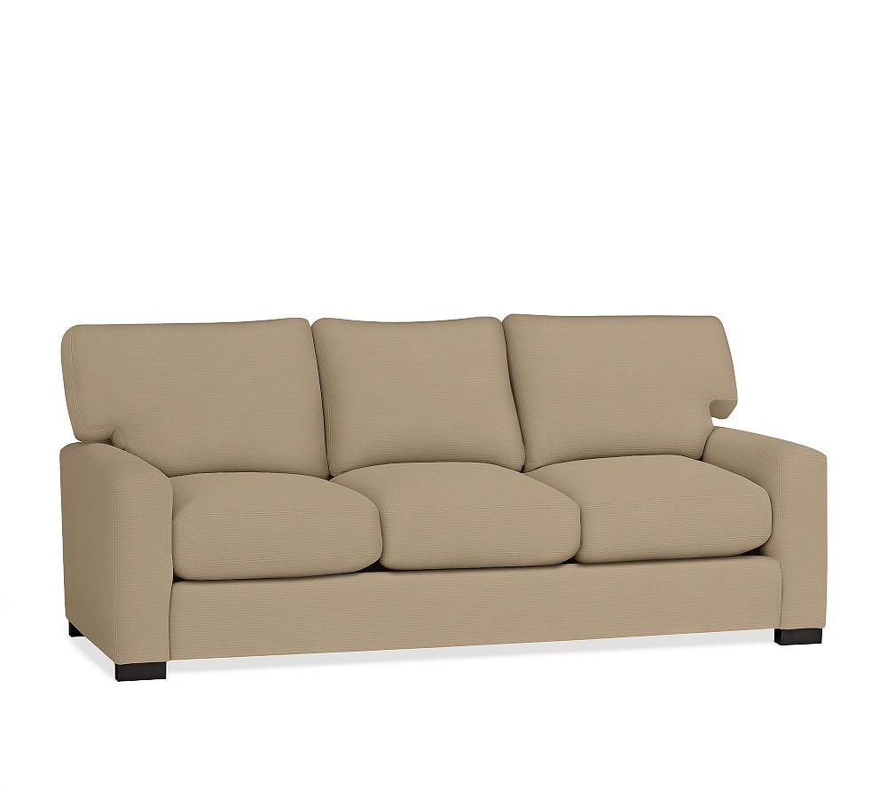 - Turner Square Upholstered Sleeper Sofa With Memory Foam Mattress
