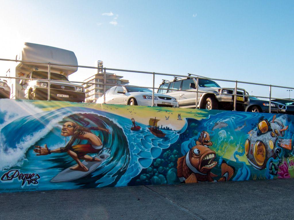 Bondi Beach Street Graffiti Art Street Graffiti Street Art