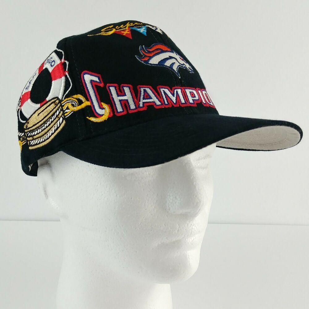 46b17c91 Denver Broncos Superbowl XXXII Champions NFL Hat Cap Embroidered San ...