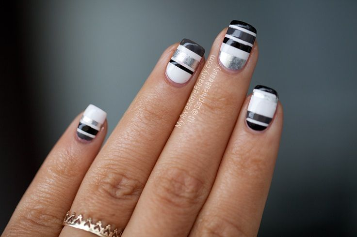 Top 10 Striped Nail Designs - Top 10 Striped Nail Designs Awesome Hair, Beauty Nails And Nail Nail