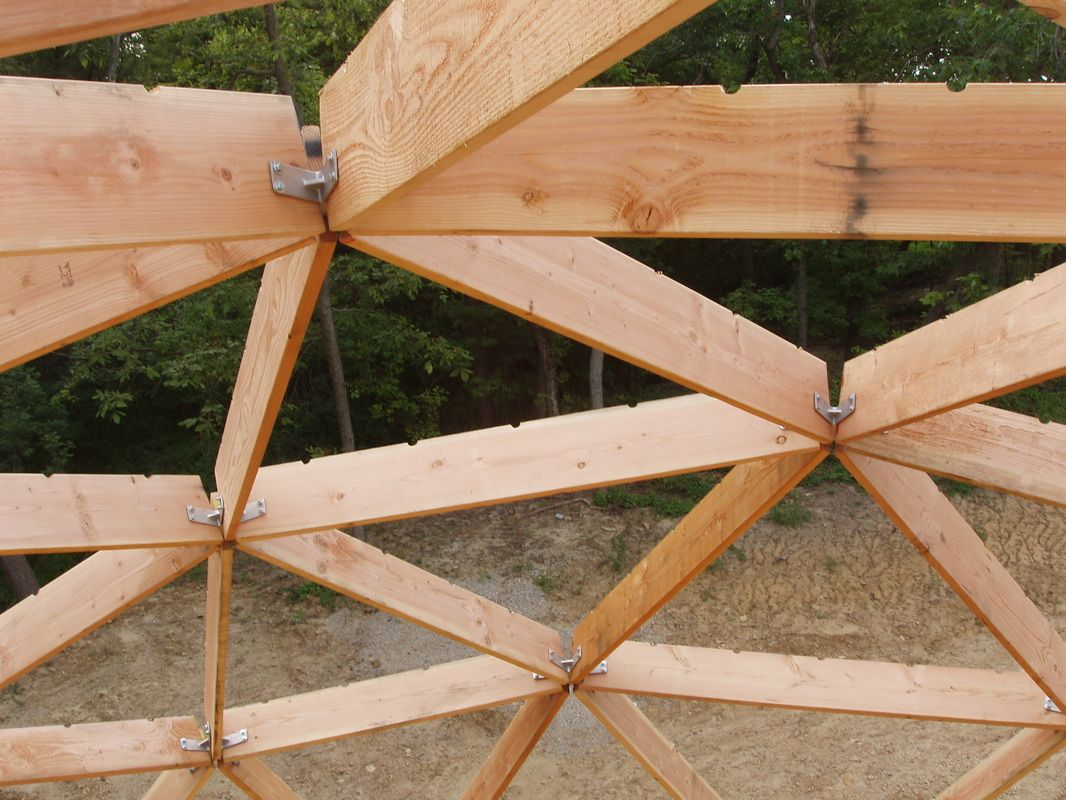 Wood Frame Dome Construction Packages For Residential Recreational