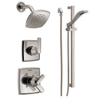 Delta Monitor 17 Series Dual Function Pressure Balanced Shower S Brilliance Stainless Faucet System Custom