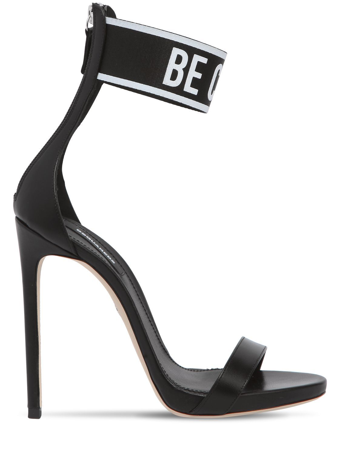 fec6b535be3 DSQUARED2 120MM BE COOL BE NICE LEATHER SANDALS.  dsquared2  shoes ...