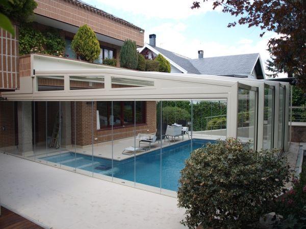 Proyecto cubierta de piscina en vivienda unifamiliar for Cubiertas para piscinas madrid