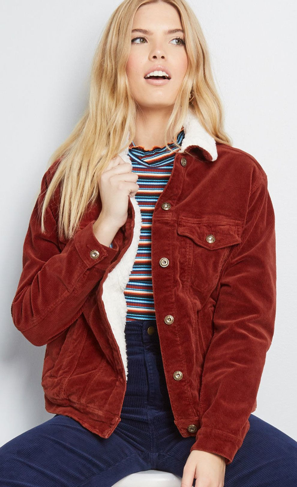 Just 24 Things From Modcloth You Ll Want To Wear This Winter Red Outerwear Jacket Outfits Cool Jackets [ 1619 x 990 Pixel ]