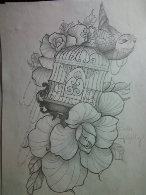 bird cage tattoo idea by baybay9623 on deviantart i want something like this tattoo ideas. Black Bedroom Furniture Sets. Home Design Ideas
