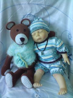 Large Crocheted Teddy Bear - Free Pattern - PDF Download