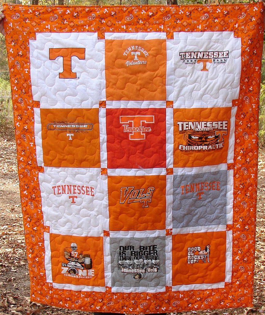University of Tennessee T-shirt Quilt   Shirt quilts : quilting university - Adamdwight.com