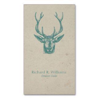 Viantage deer head business card template art antiques viantage deer head business card template reheart Images