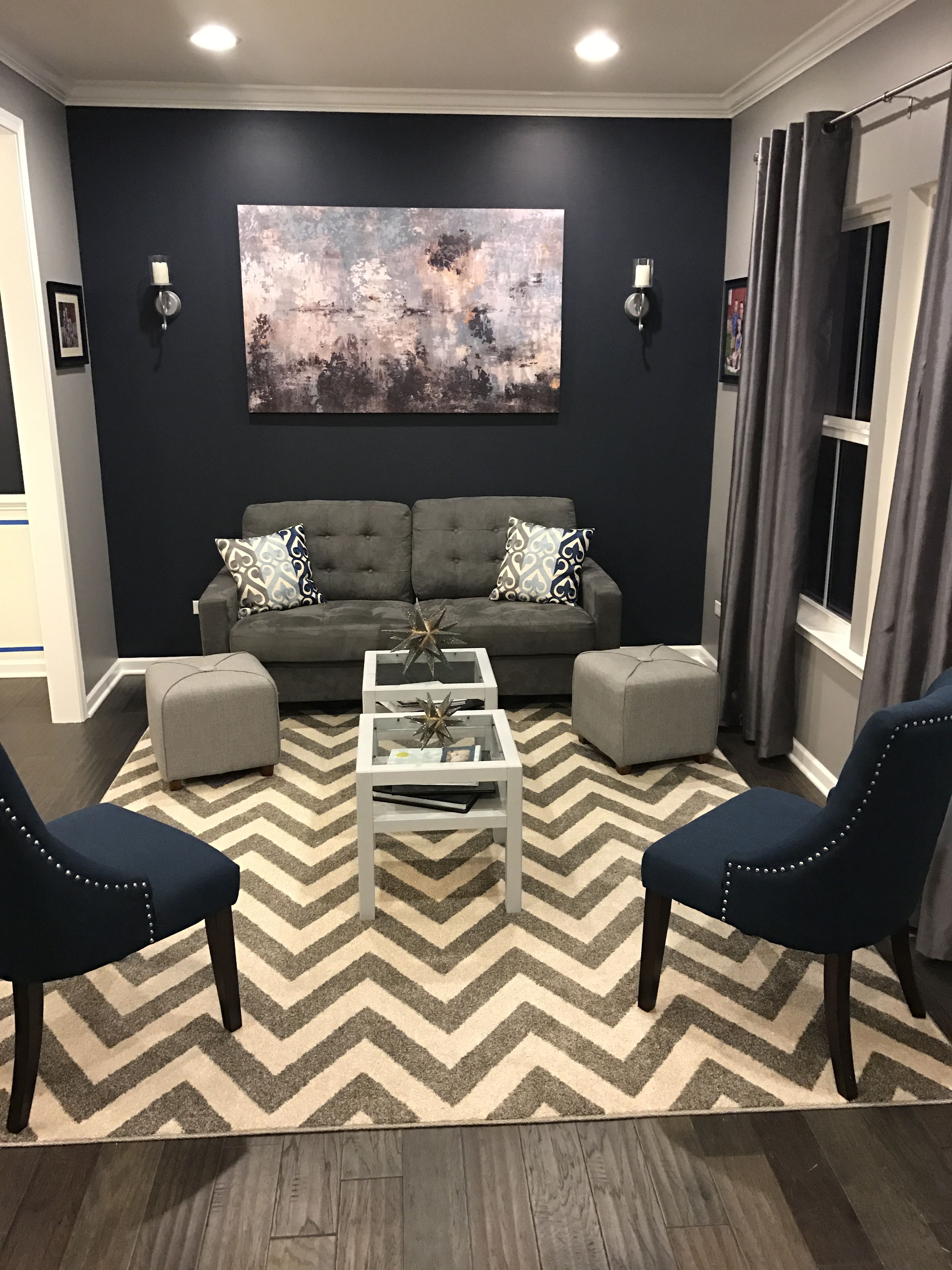 Best Ryan Homes Rome Living Room Transformation Hale Navy 400 x 300