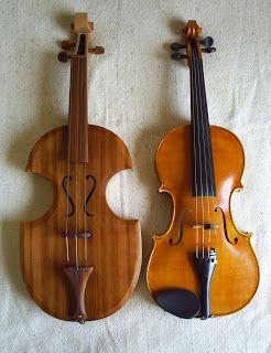 El antecedente del violín fue un instrumento medieval que se llamaba fídula o viola de arco que surge a partir del siglo IX-X D.C.; Poco a poco este instumento se fue perfeccionando hasta llegar en el siglo xv a la viola de braccio, en italia, que dará lugar al violín. fue en el siglo XVI cuando se creó el verdadero violín, que ha llegado a nuestros días