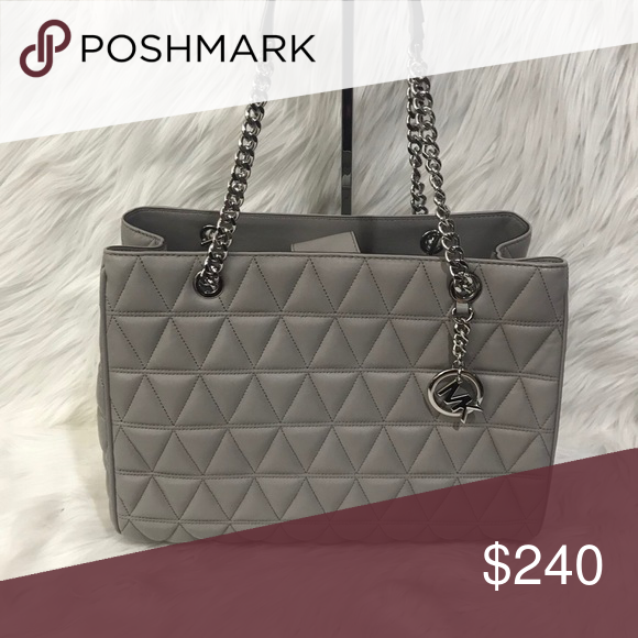 """28dc88a50cd5 Michael Kors Susannah Tote Authentic Brand New Michael Kors Quilted Lamb Leather  Susannah Tote Handle 9"""" 1 Zipper Pocket, 4 Open Pockets, ..."""