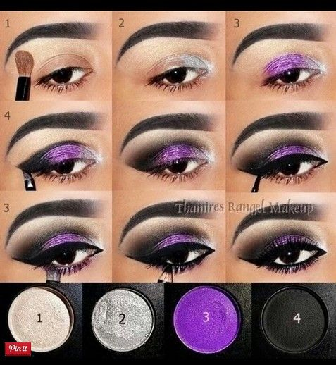 20 misteriosos tutoriales de maquillaje morado ahumado 18 – Bonitos diseños  – Maquillaje