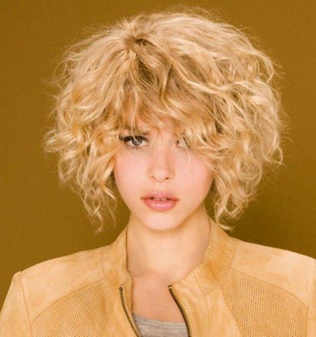 coupe de cheveux carré plongeant bouclé | beauté coiffure ...