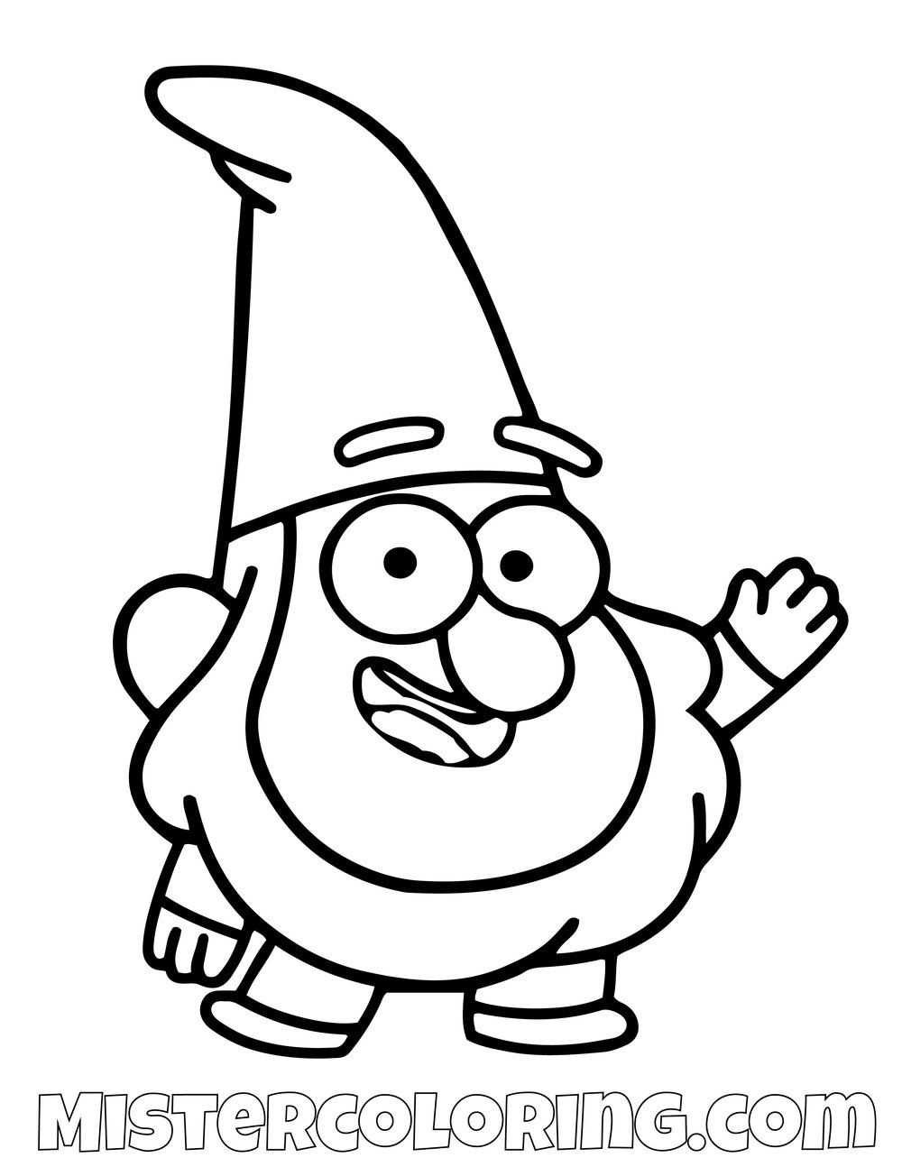 Gnome Gravity Falls Coloring Pages For Kids Gravity Falls