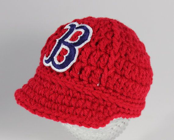 caa02a4b4 Baby Boston Red Sox Hat Knitted / Crochet by GoldenGirlzHandmade, $25.00