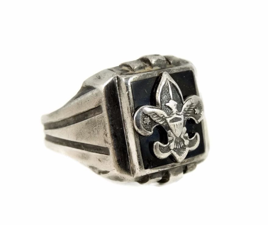 1950s Silver Boy Scout Ring for Men Sz 10 Vintage #gotvintage ...