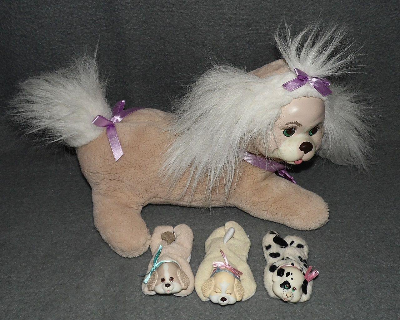 Puppy surprise hund baby im bauch plüsch spielzeug