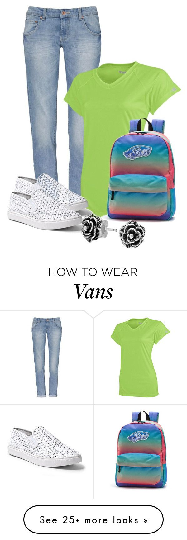 """Untitled #2972"" by janicemckay on Polyvore featuring Champion, Steve Madden, Vans and Bling Jewelry"