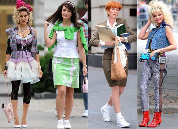 El estilo de esos años verdaderamente impactaba por los colores, los accesorios y los peinados.