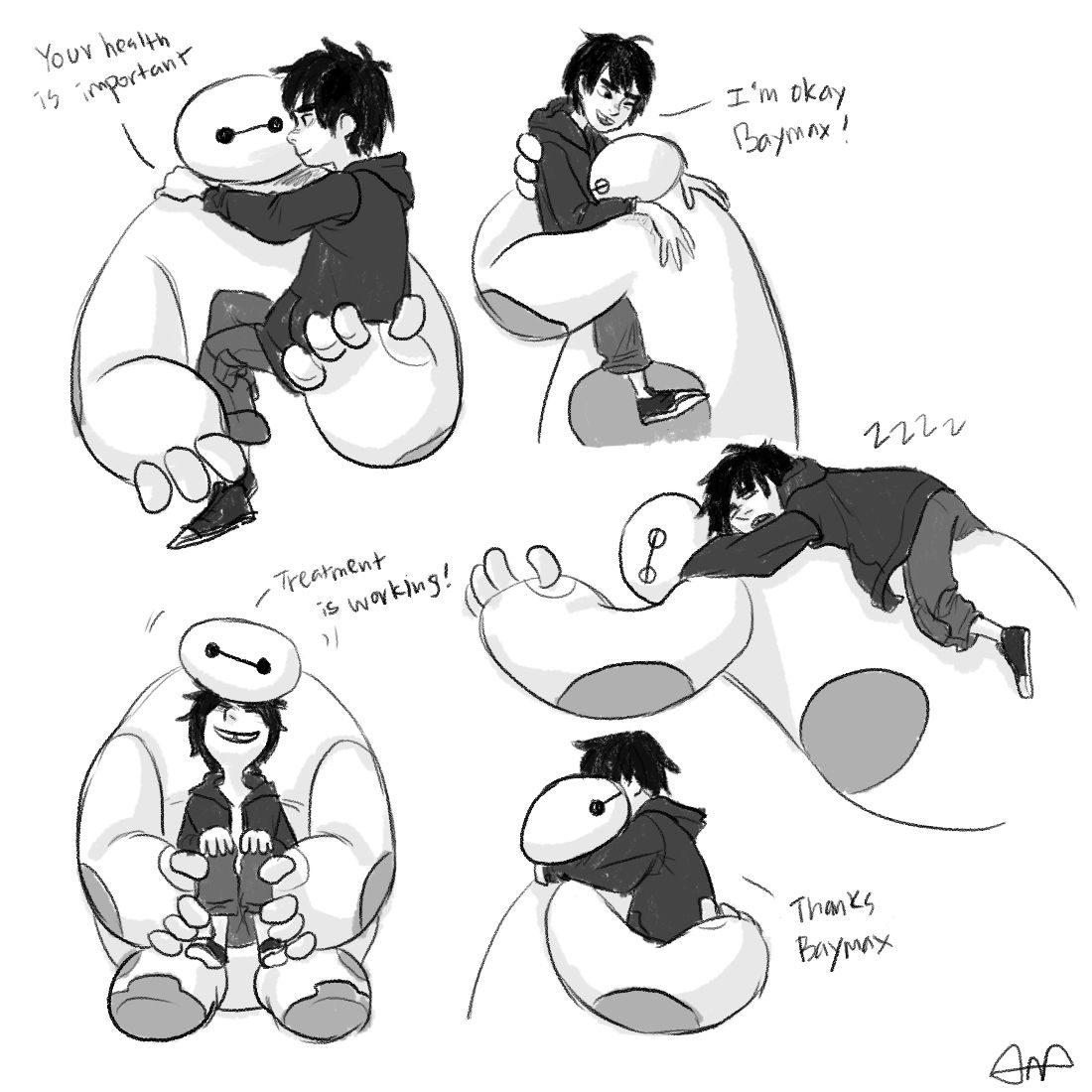 20150125 Baymax & Hiro Hugging Series * used reference