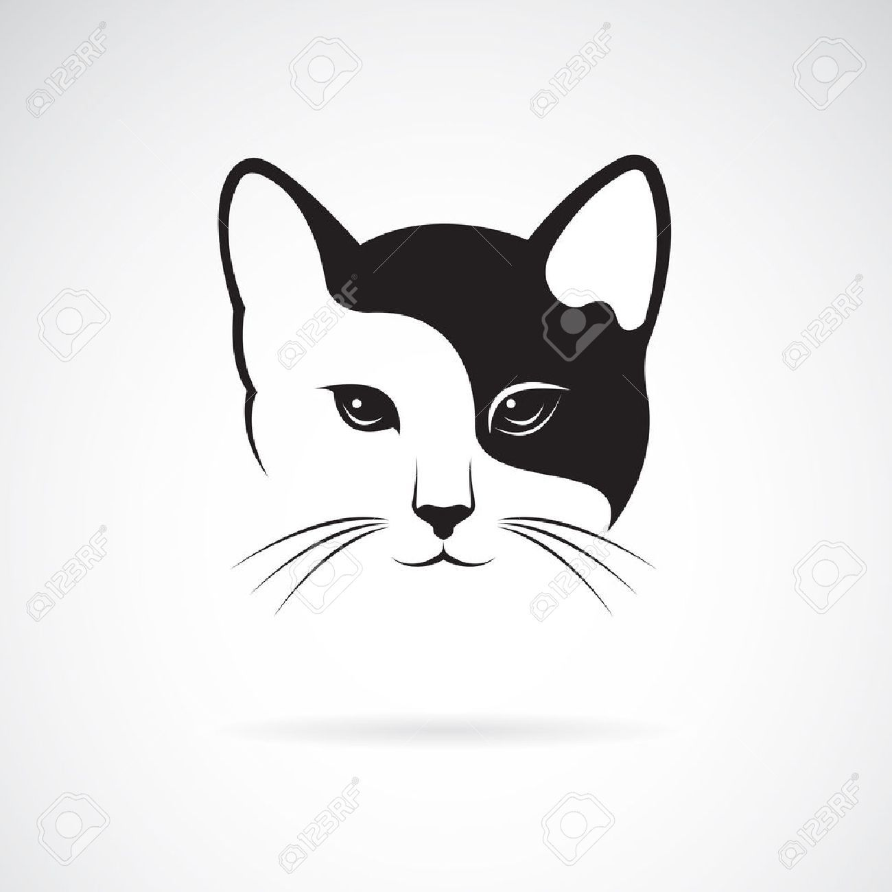 Vector Image Of A Cat Face Design On White Background Cat Face Cat Vector Kitty Images