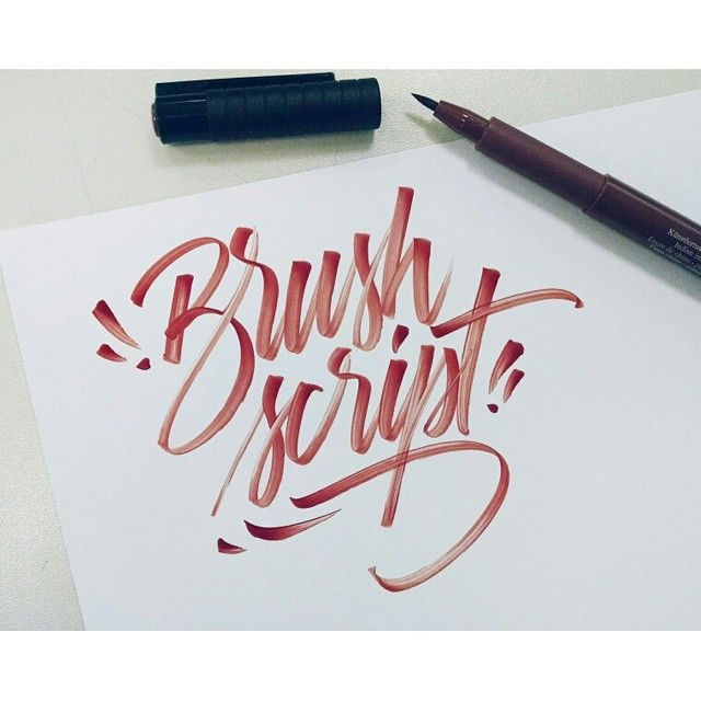 Brush Script! #lettering #script #typography #type #brush #handlettering #visual #design